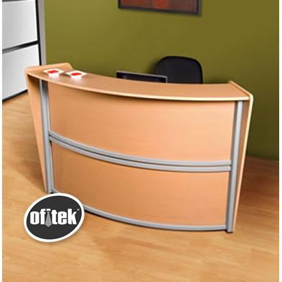 Comprar recepci n curva individual mobiliario para for Escritorios para recepcion oficina